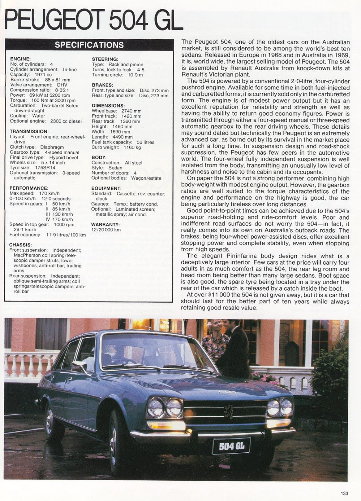 """1980, """"Peugeot 504 GL"""""""
