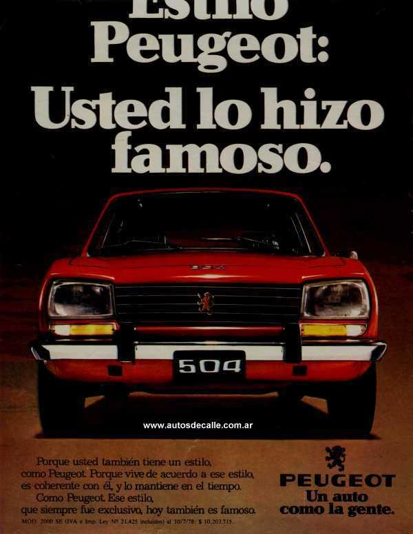 La Pasión por el 504 - Peugeot